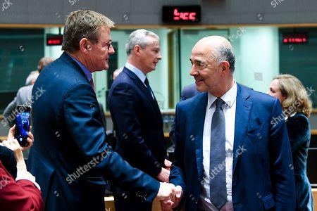 Bruno Le Maire, Pierre Moscovici, Nadia Calvino, Johan Van Overtveldt