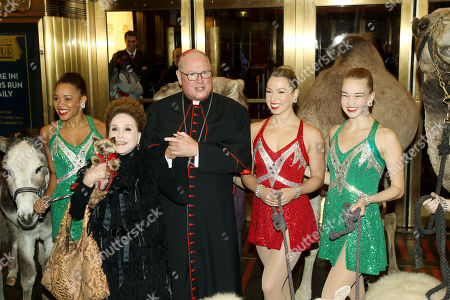Stock Image of Samantha Berger, Cindy Adams, His Eminence Timothy Cardinal Dolan, Lauren Gibbs, Kathleen Laituri (Rockettes)