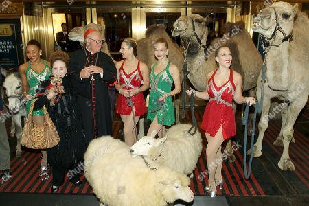 Samantha Berger, Cindy Adams, His Eminence Timothy Cardinal Dolan, Lauren Gibbs, Kathleen Laituri (Rockettes)