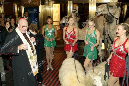 His Eminence Timothy Cardinal Dolan, Samantha Berger, Kathleen Laituri, Samantha Harvey, Lauren Gibbs (Rockettes)