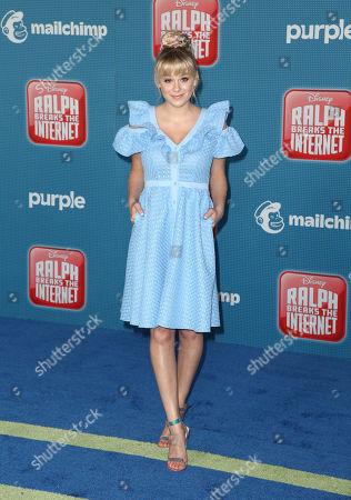 Editorial image of 'Ralph Breaks The Internet' film premiere, Arrivals, Los Angeles, USA - 05 Nov 2018