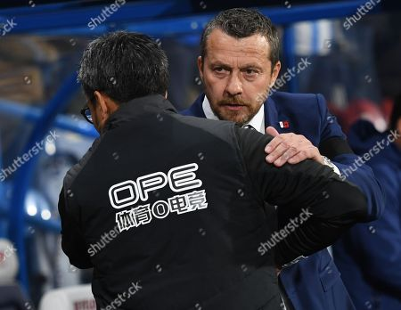 Fulham manager Slavisa Jokanovic and Huddersfield Town manager David Wagner