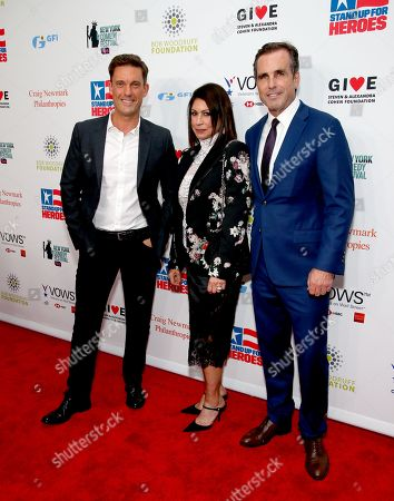 Keir Simmons, Caroline Hirsch and Bob Woodruff