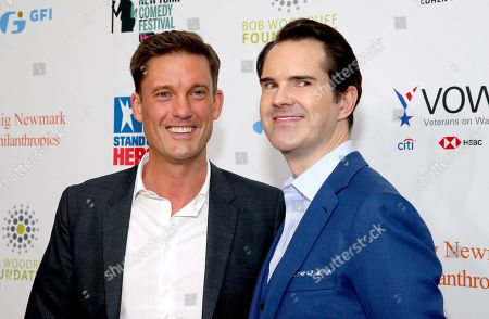Keir Simmons and Jimmy Carr