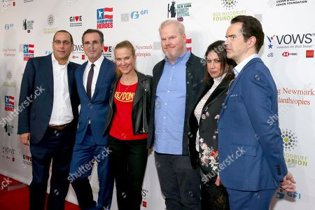 Andrew Fox, Bob Woodruff, Jeannie Gaffigan, Jim Gaffigan, Caroline Hirsch and Jimmy Carr