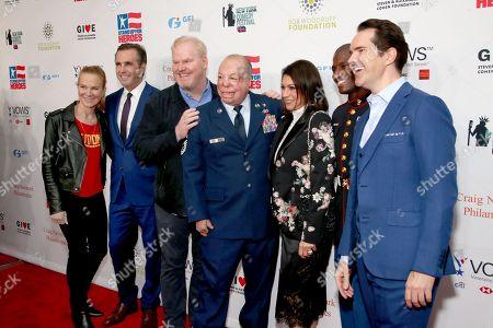 Jeannie Gaffigan, Bob Woodruff, Jim Gaffigan, Israel ?DT? Del Toro, Caroline Hirsch, Kionte Storey and Jimmy Carr