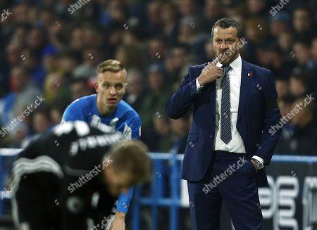 Fulham manager Slavisa Jokanovic looks thoughtful