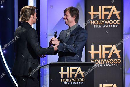 Stock Picture of Brad Pitt, Felix Van Groeningen