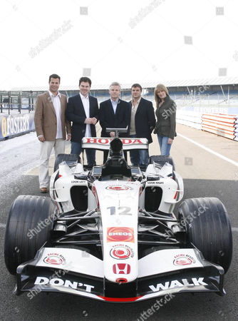 'Formula 1' ITV Sport - (L-R): Ted Kravitz, James Allen, Steve Rider, Mark Blundell and Louise Goodman.