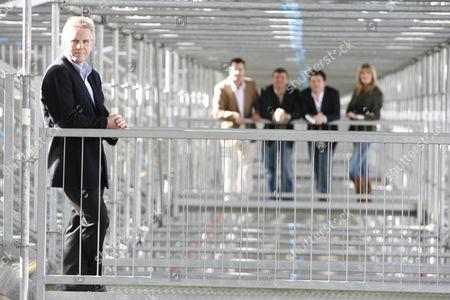 'Formula 1' ITV Sport - (L-R): Steve Rider, Ted Kravitz, Mark Blundell, James Allen and Louise Goodman.
