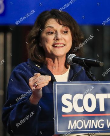 Republican US Senate candidate Leah Vukmir speaks at a Get Out The Vote campaign event at Weldall Manufacturing, Inc., in Waukesha, Wisconsin USA, 05 November 2018. Vukmir is running to unseat incumbent Democrat Tammy Baldwin.