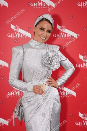Stock Picture of Australian actress and model Jodi Anasta poses for a photograph in The Birdcage during the Lexus Melbourne Cup Day, as part of the Melbourne Cup Carnival, at Flemington Racecourse in Melbourne, Victoria, Australia, 06 November 2018.