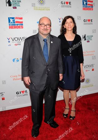 Stock Picture of Craig Newmark ; Annalia Idol. Craig Newmark and Annalia Idol attend the 12th annual Stand Up For Heroes benefit red carpet at the Hulu Theater at Madison Square Garden, in New York