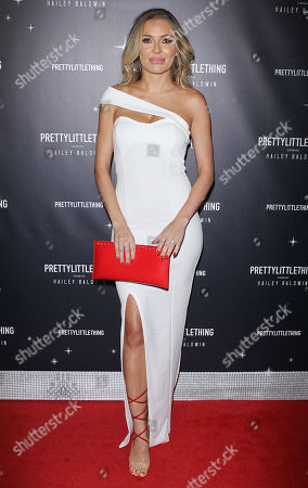Editorial photo of PrettyLittleThing x Hailey Baldwin launch event, Los Angeles, California, USA - 05 Nov 2018