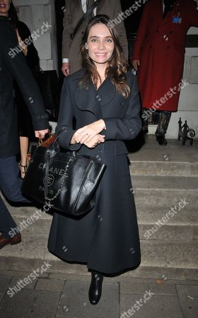 Editorial photo of Anna Danshina out and about, London, UK - 05 Nov 2018