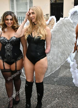 Editorial image of Simply Be's Christmas lingerie collection photocall, London, UK - 06 Nov 2018