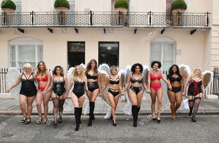 (L-R) Felicity Hayward, Joann Van Den Herik, Ayesha, Kelly Knox, Robyn Lawley, Ashley James, Danielle, Anais, Hayley Hasselhoff, Nahuane
