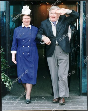 Benny Hill Leaving Cromwell Hospital. Matron Sees Him Off