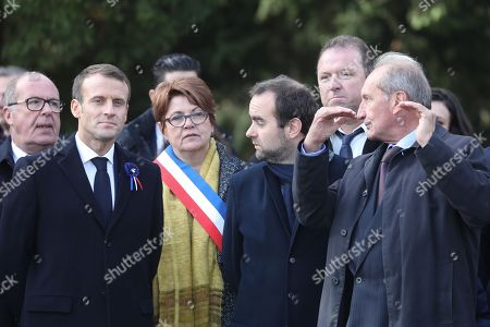 Editorial image of President Macron's tour to commemorate the centenary of the end of the First World War, Les Eparges, France - 06 Nov 2018