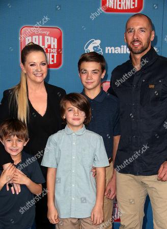 Stock Picture of Melissa Joan Hart, Mark Wilkerson, Tucker McFadden Wilkerson, Brady Hart Wilkerson, Mason Walter Wilkerson
