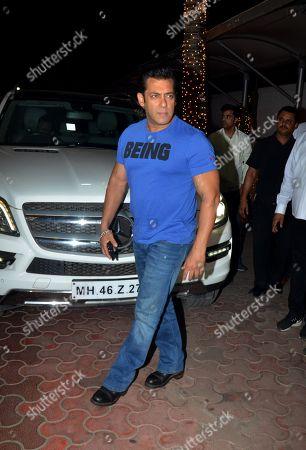 Actor Salman Khan attend Shilpa Shetty's Diwali party at Juhu in Mumbai.