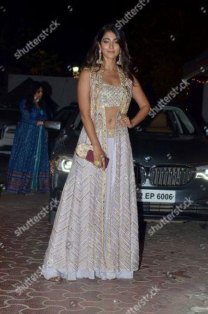 Singer Pooja Hegde attend Shilpa Shetty's Diwali party at Juhu in Mumbai.