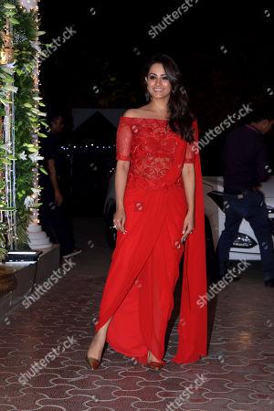 Stock Picture of Actress Anita Hassanandani attend Shilpa Shetty's Diwali party at Juhu in Mumbai.