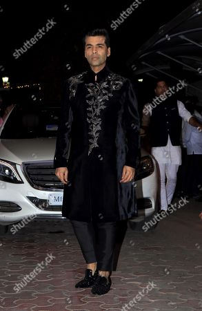 Director Karan Johar attend Shilpa Shetty's Diwali party at Juhu in Mumbai.
