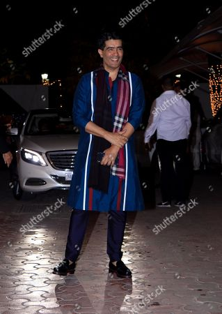 Fashion designer Manish Malhotra attend Shilpa Shetty's Diwali party at Juhu in Mumbai.