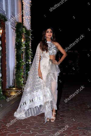 Actress Shilpa Shetty Kundra pose for photos on her Diwali Bash party at Juhu in Mumbai.