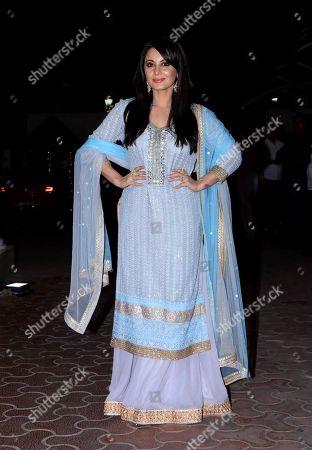 Actress Minissha Lamba attend Shilpa Shetty's Diwali party at Juhu in Mumbai.
