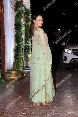 Actress Preity Zinta attend Shilpa Shetty's Diwali party at Juhu in Mumbai.
