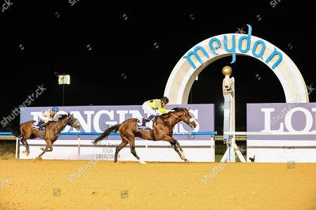 Roy Orbison (ARG) ridden by Fernando Jara wins the 8f Longines La Grande Classic Collection, race 3, at Dubai Meydan race track.