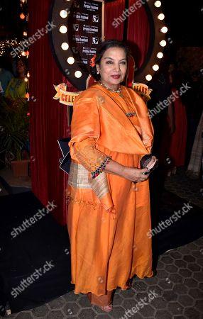Indian actress Shabana Azmi at Prithvi Theatre Festival's 40th anniversary party at Prithvi Theatre, Juhu in Mumbai.