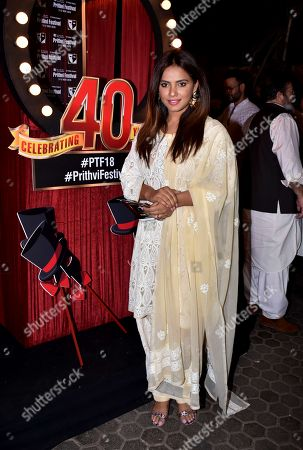 Stock Picture of Indian actress Neetu Chandra at Prithvi Theatre Festival's 40th anniversary party at Prithvi Theatre, Juhu in Mumbai.