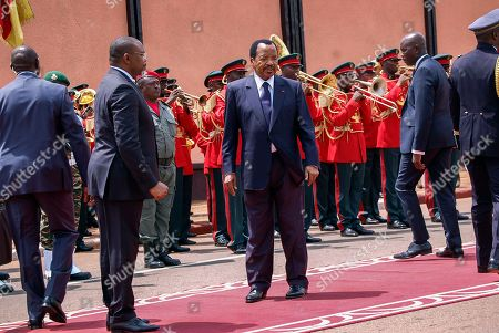 Cameroon's President Paul Biya (C) attends his swearing in ceremony at the National Assembly in Yaounde, Cameroon, 06 November 2018. Paul Biya, aged 86, was sworn in for a seventh consecutive term in office after being declared winner of 07 October presidential elections by the Constitutional Council. Biya is ruling in Cameroon already for 36 years.