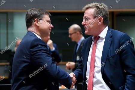 Valdis Dombrovskis and Johan Van Overtveldt