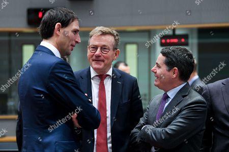 Woke Hoekstra, Johan Van Overtveldt and Paschal Donohoe