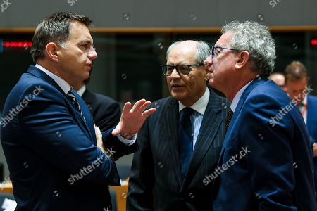 Editorial photo of Eurogroup Finance Ministers meeting, Brussels, Belgium - 06 Nov 2018
