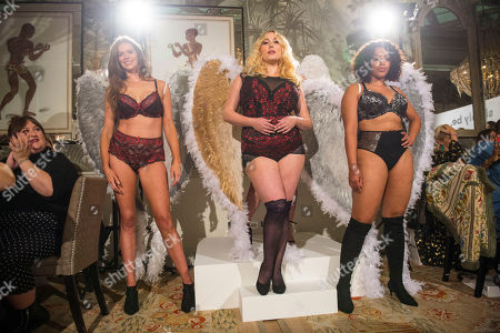 Stock Image of L to R: Plus sized models Robyn Lawley, Hayley Hasselhoff and Danielle.