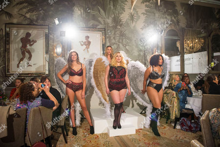 Stock Photo of Front L to R: Plus sized models Robyn Lawley, Hayley Hasselhoff and Danielle.