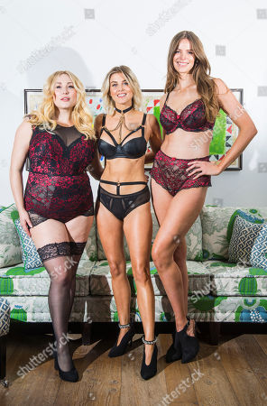 L to R: Plus sized models Hayley Hasselhoff, Ashley James and Robyn Lawley.
