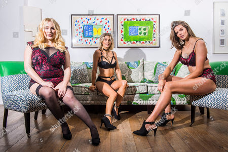 Stock Picture of L to R: Plus sized models Hayley Hasselhoff, Ashley James and Robyn Lawley.