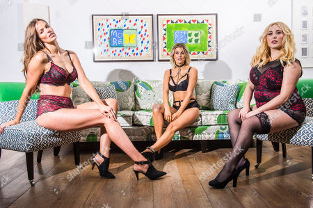 L to R: Plus sized models Robyn Lawley, Ashley James and Hayley Hasselhoff.