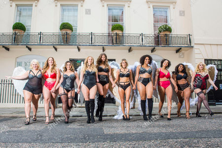 Editorial photo of Simply Be's Christmas lingerie collection photocall, London, UK - 06 Nov 2018