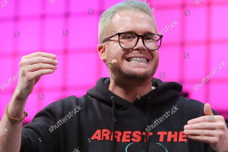 Stock Picture of The whistleblower Christopher Wylie speaks on the second day of the 2018 Web Summit in Lisbon, Portugal, 06 November 2018. The 2018 Web Summit, considered the largest innovation event of startups and technological entrepreneurship in the world, takes place from 05 to 08 November at the Altice Arena and FIL pavilion, in Parque das Nacoes, Lisbon.