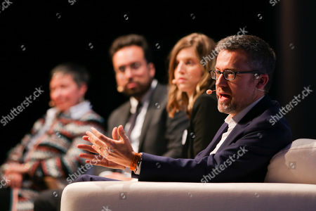European Commissioner for Research, Science and Innovation Carlos Moedas (R) speaks during a Forum 'Reaching a triple A for Europe' on the second day of the 2018 Web Summit in Lisbon, Portugal, 06 November 2018. The 2018 Web Summit, considered the largest innovation event of startups and technological entrepreneurship in the world, takes place from 05 to 08 November at the Altice Arena and FIL pavilion, in Parque das Nacoes, Lisbon.