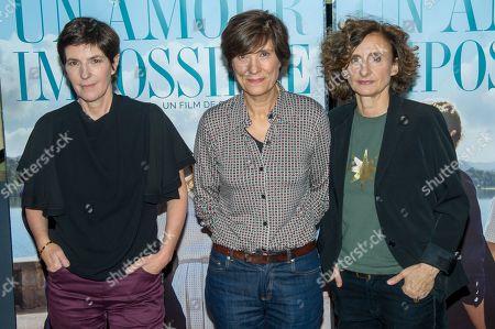 Stock Photo of Novelist Christine Angot, Director Catherine Corsini, Producer Elisabeth Perez