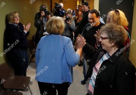 Incumbent Sen. Claire McCaskill, D-Mo., leaves her polling place after voting, in Kirkwood, Mo