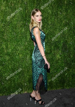 Sara Paxton attends the 15th annual CFDA / Vogue Fashion Fund event at the Brooklyn Navy Yard, in New York